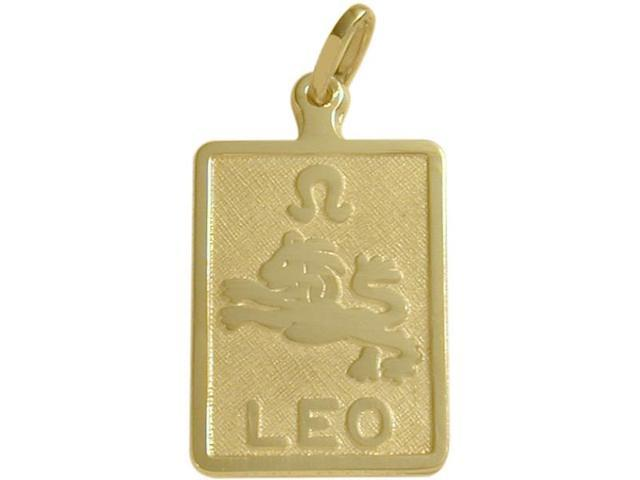 14 Karat Yellow Gold Leo Zodiac Pendant with Chain