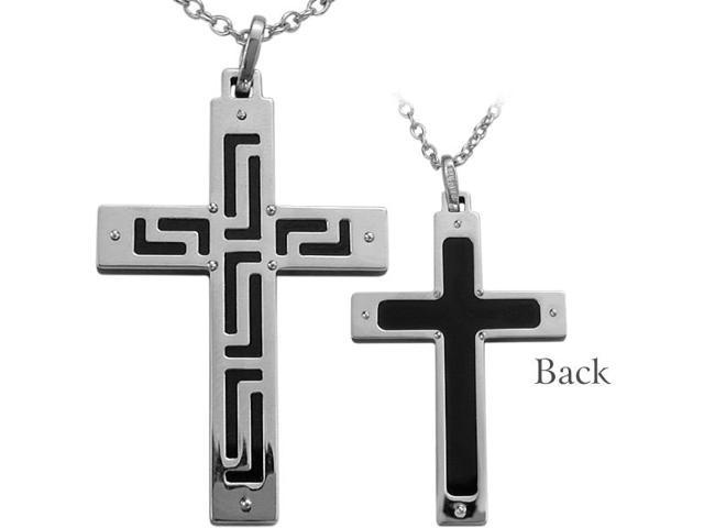 Genuine Sterling Silver Reversible Two-Tone Cross
