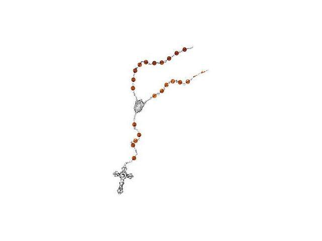 Genuine Sterling Silver Baltic Amber Bead Rosary