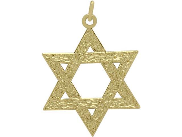 14 Karat Yellow Gold Medium Star of David Pendant with a Chain