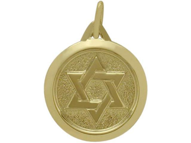 Yellow Gold 14 Karat Star of David Pendant with a chain
