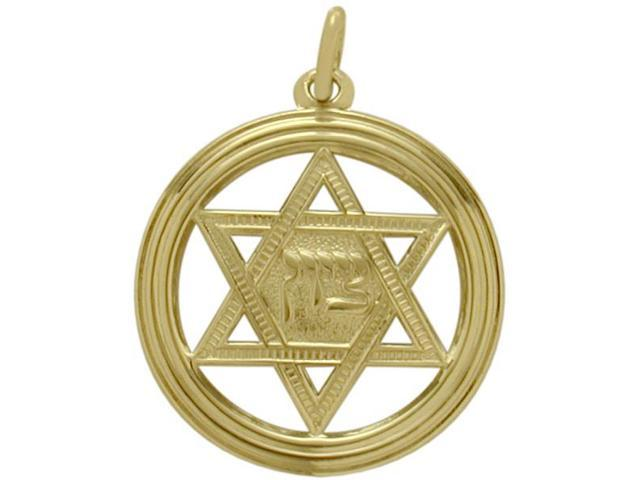 14 Karat Yellow Gold Large Star of David Pendant with a Chain