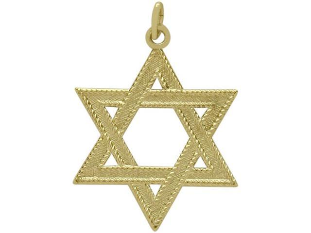 14 Karat Yellow Gold Medium Star of David Pendant with a Chain