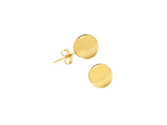 10 Karat Yellow Gold High Polish 7mm Ball Style Earrings