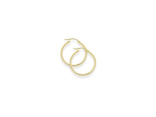 1 3/8 Inch Yellow Gold Hoop Earrings