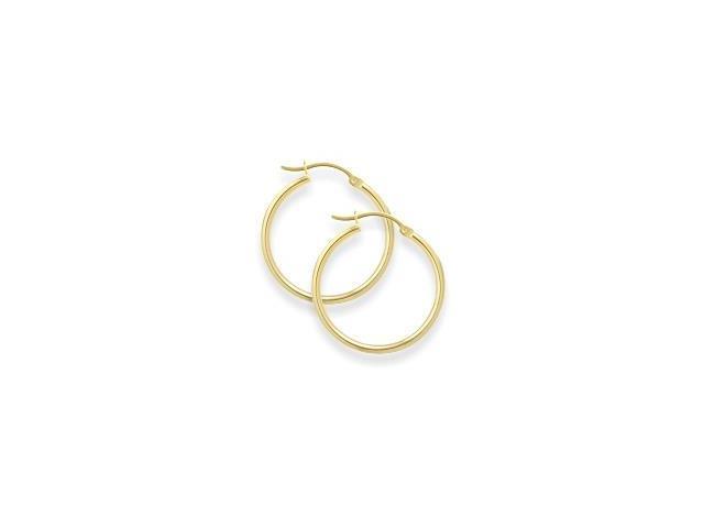 2 Inch Yellow Gold Hoop Earrings