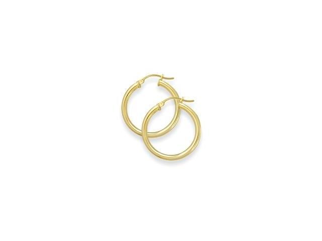 1 Inch Traditional Yellow Gold Hoop Earrings