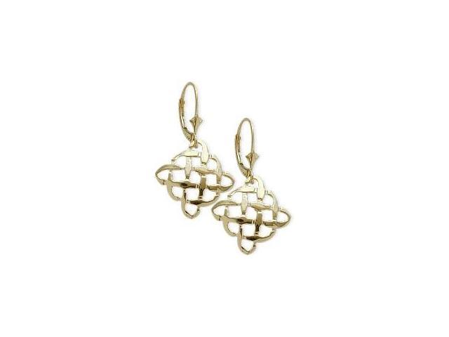 10 Karat Yellow Gold Celtic Knot Earrings
