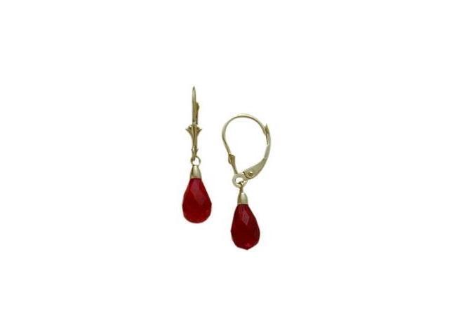 Created Ruby 1.20 Carat 10 Karat Yellow Gold Briolette Earrings