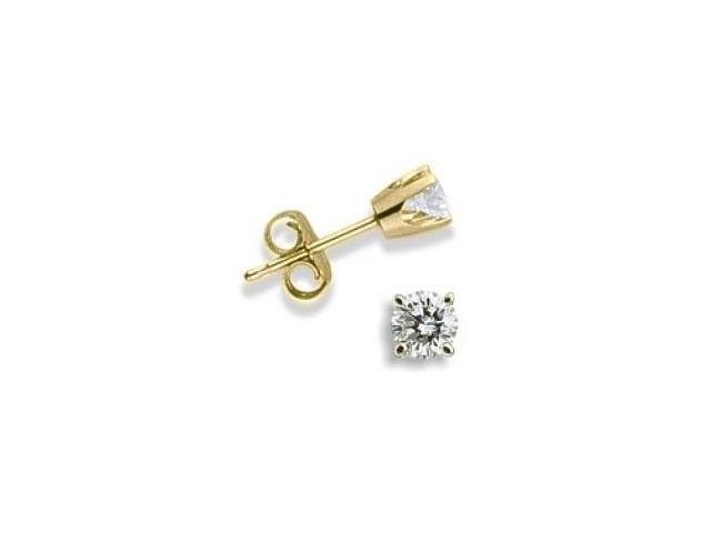 Baby 0.14 TCW Yellow Gold Diamond Stud Earrings