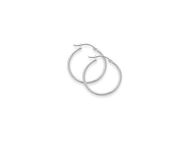 1 4/5 Inch Sterling Silver Hoop Earrings