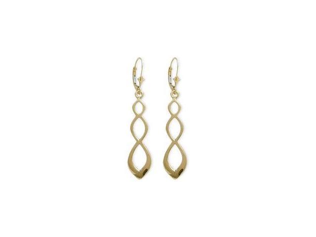 10 Karat Celtic Style Yellow Gold Earrings