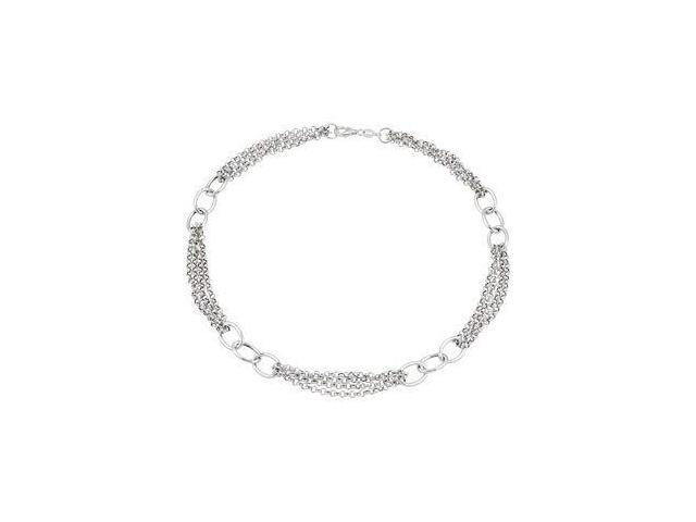 a Genuine Sterling Silver Link Necklace