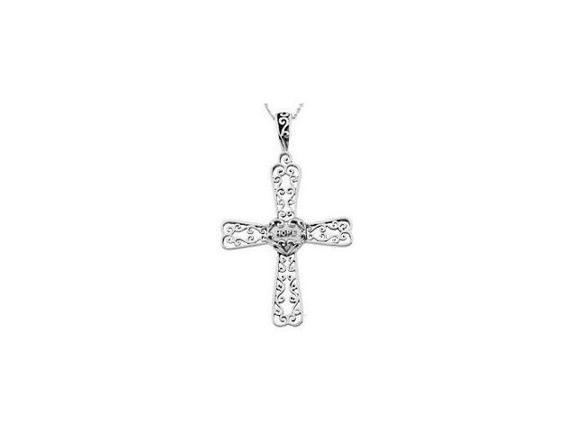 Genuine Sterling Silver Hope Cross Pendant ~ Deborah J. Birdoes with a chain