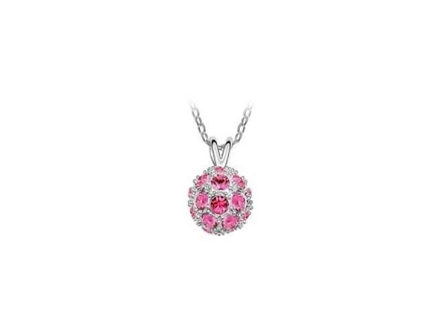 SWAROVSKI® Elements 23 Stone Ball Pendant with a chain