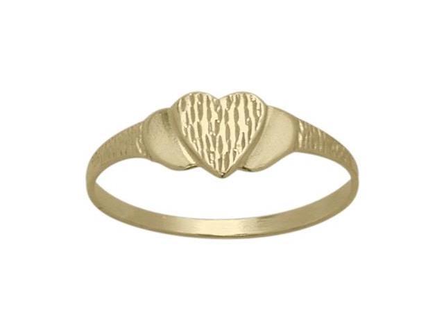 14 Karat Yellow Gold Heart Baby Ring - SIZE 4