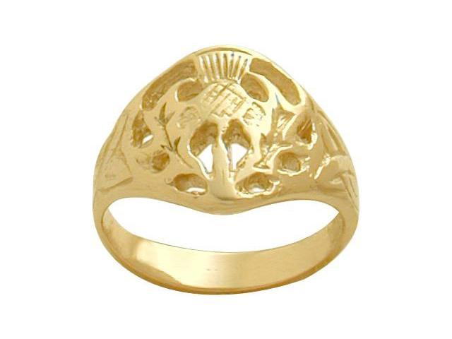 10 Karat Unisex Yellow Gold Celtic Ring - 10