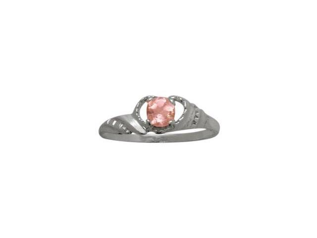 Genuine Sterling Silver Created Tourmaline Gemstone Baby Ring - SIZE 2