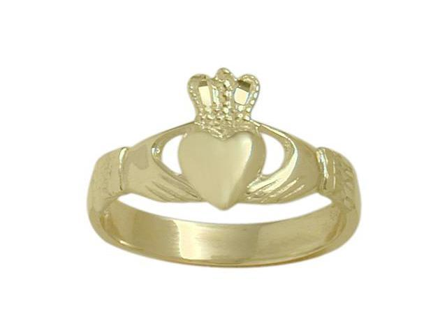 Ladies 14 Karat Yellow Gold Celtic Claddagh Ring - 7