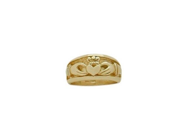 Traditional 10 Karat Yellow Gold Claddagh Knot Ring - 6
