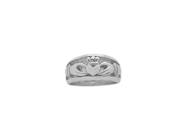 Traditional Genuine Sterling Silver Claddagh Knot Ring - 45