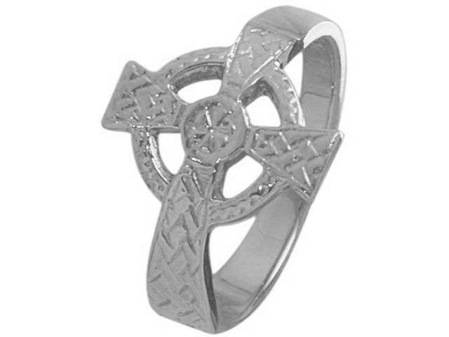 Sterling Silver Celtic Cross Ring - 7