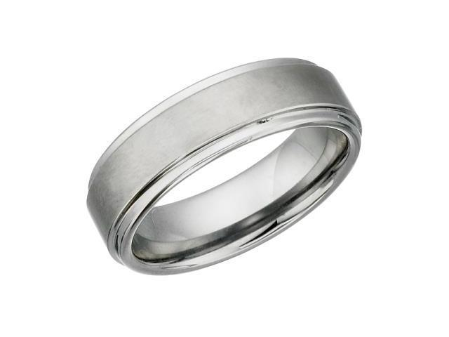 7mm Tungsten Carbide Comfort Fit Ring - 12.5