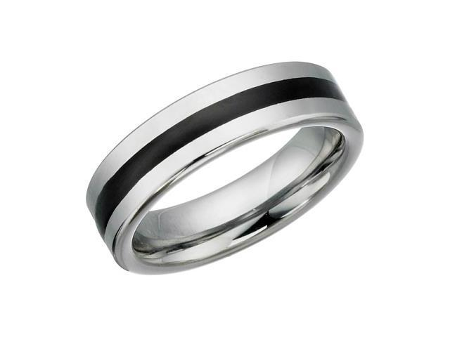 6mm Tungsten Carbide Comfort Fit Ring - 10.5