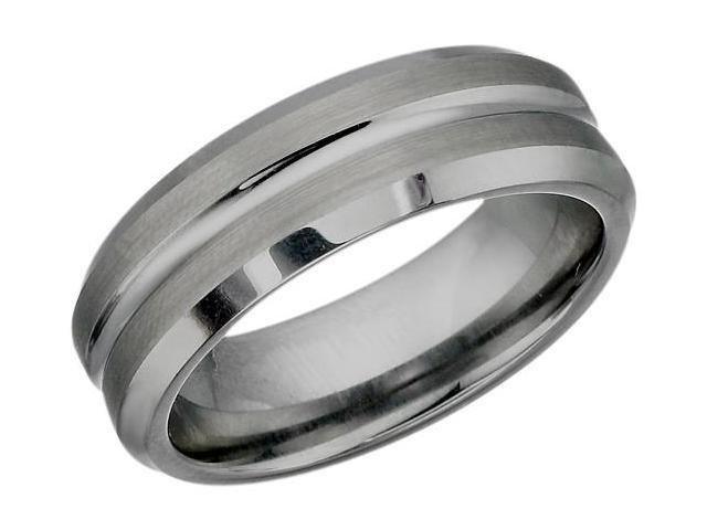 7mm Multi-Texture Tungsten Carbide Ring - 8