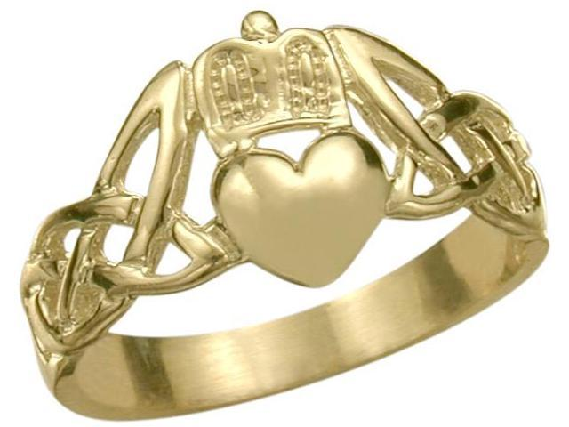 10 Karat Yellow Gold Claddagh Knot Ring - 8