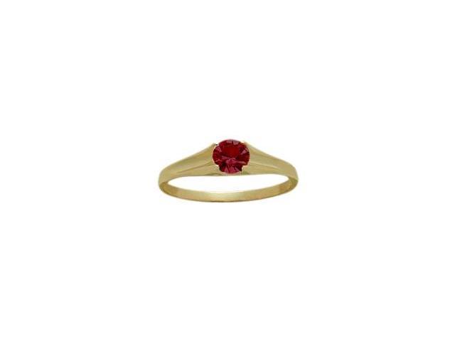 14 Karat Yellow Gold Created 0.28tcw. Ruby Baby Gemstone Ring