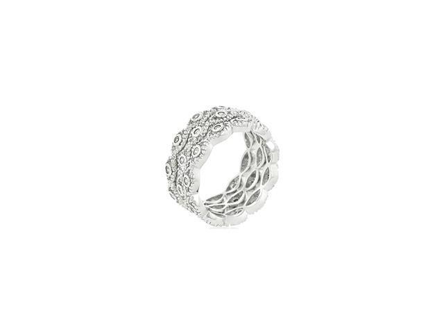 Ladies 9mm Fashion Stackable Eternity Rings - 5