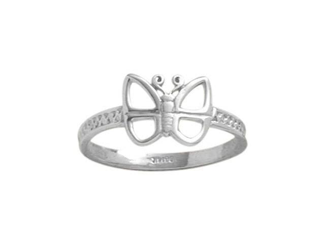 Genuine Sterling Silver Butterfly Baby Ring - SIZE 3