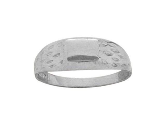 Genuine Sterling Silver Rectangle Baby Ring - SIZE 2