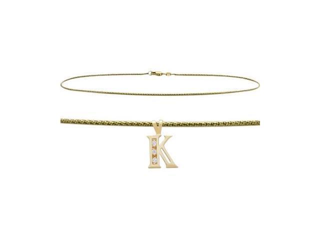 Initial Diamond K Yellow Gold 10