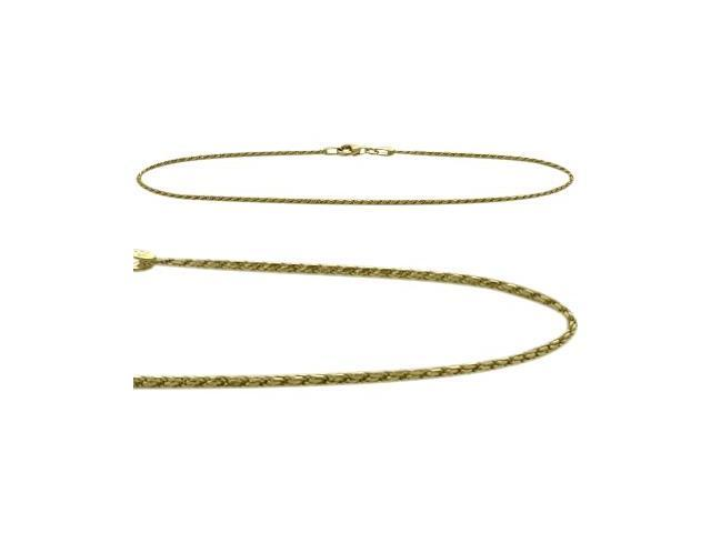 14K Yellow Gold 9 Inch Solid Rope Style Anklet