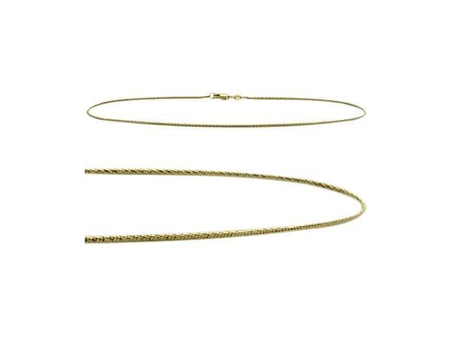 10K Yellow Gold 10 Inch Snake Style Anklet