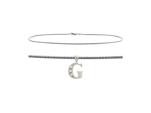 Initial Diamond G White Gold 9