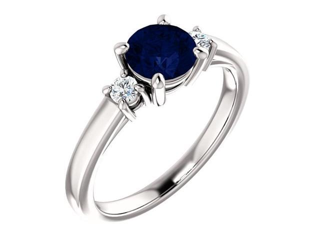 Created 6mm 1.00 tcw. Sapphire 3-Stone Gemstone Ring