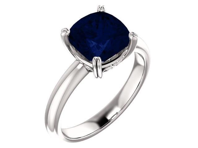 Created September 8mm Antique Square 2.50 tcw. Sapphire Gemstone Ring - Size 6.5