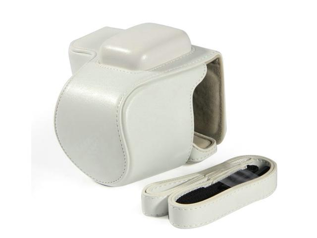 Westlinke Compact Digital Camera Case for Sony NEX-5T NEX5T 5T PU Leather Camera Bag Cover Fit for 16-50mm Lens-White