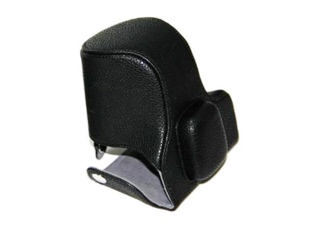 Westlinke Black PU Synthetic Leather Digital Camera Case Cover Bag for Olympus Pen EPL5 EPL-5 with Shoulder Strap