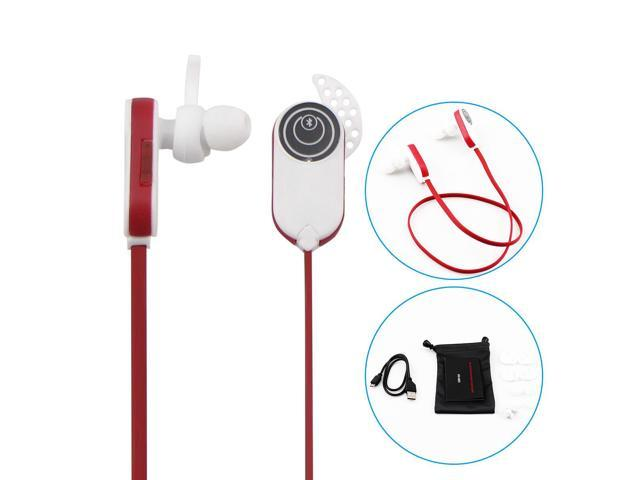 white red hv803wireless bluetooth earbuds headphones headset with microphone. Black Bedroom Furniture Sets. Home Design Ideas