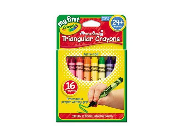 Crayola My First Washable Triangular Crayons CYO811316
