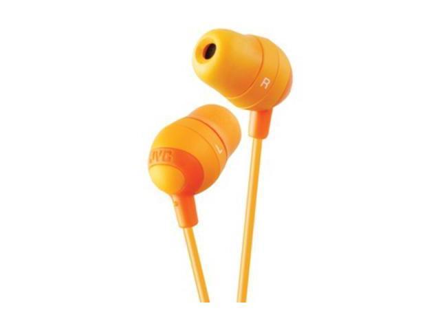 JVC Orange HAFX32D Marshmallow Earbuds