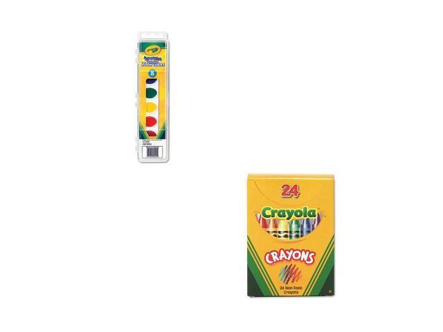 Shoplet Best Value Kit Crayola Washable Watercolor Paint Cyo530525 And Cr
