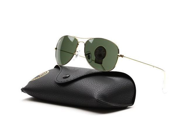 gold ray ban sunglasses py3h  Ray Ban RB3362 Cockpit Aviator Metal Sunglasses
