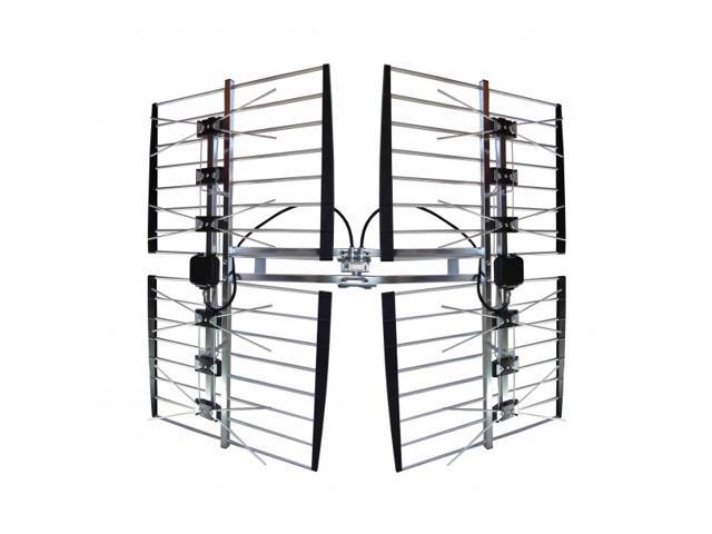 FOCUS ANTENNAS 8-BAY Multidirectional 80-MILES Long Range Ultra-Clear Outdoor UHF HDTV Antenna