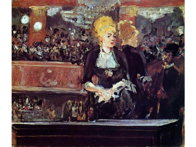 A Bar At The Folies Bergere Manet Edouard Manet Study fo...