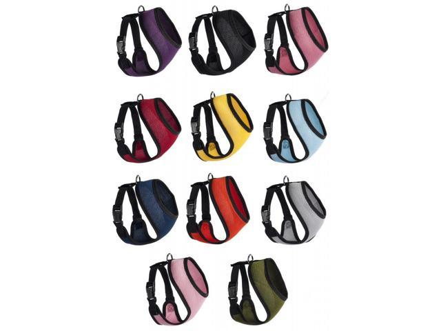 Mesh Soft Padded Dog Puppy Pet Harness 11 Colors 5 Sizes Comfortable, Breathable.